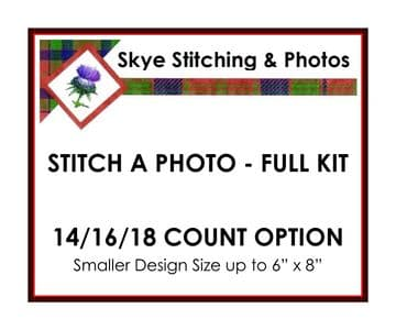 Stitch A Photo - Full Cross Stitch Kit - 14, 16 & 18 Count - Small